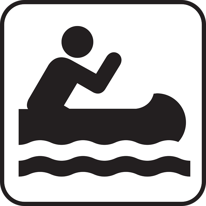 Rafting Boat Canoe Paddle Sports Water Sign