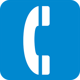 Phone Telephone Communicate Blue Sign