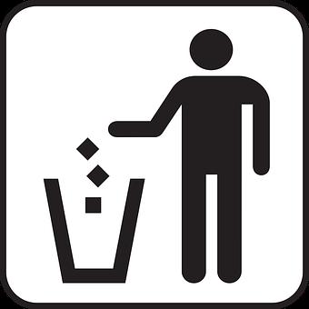 ゴミ箱, 廃棄物のバスケット, リサイクル, 箱, 捨てる, ガベージ, 記号