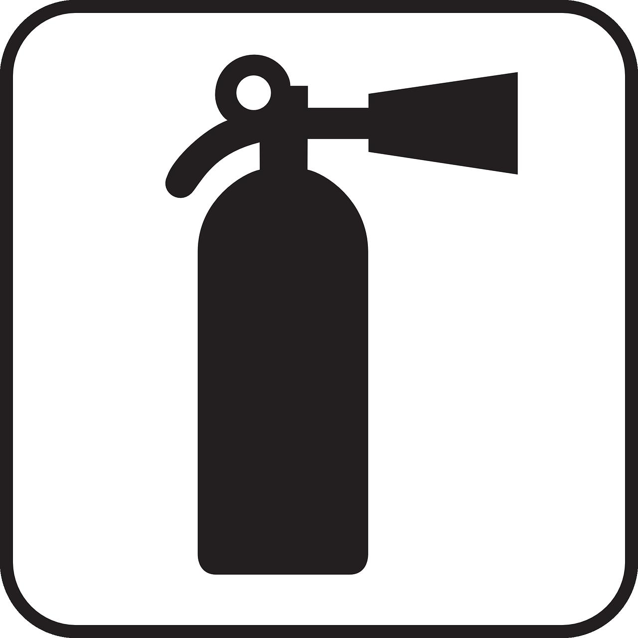 灭火器,消防水幕,手提式灭火器,火,迹象,符号,图标