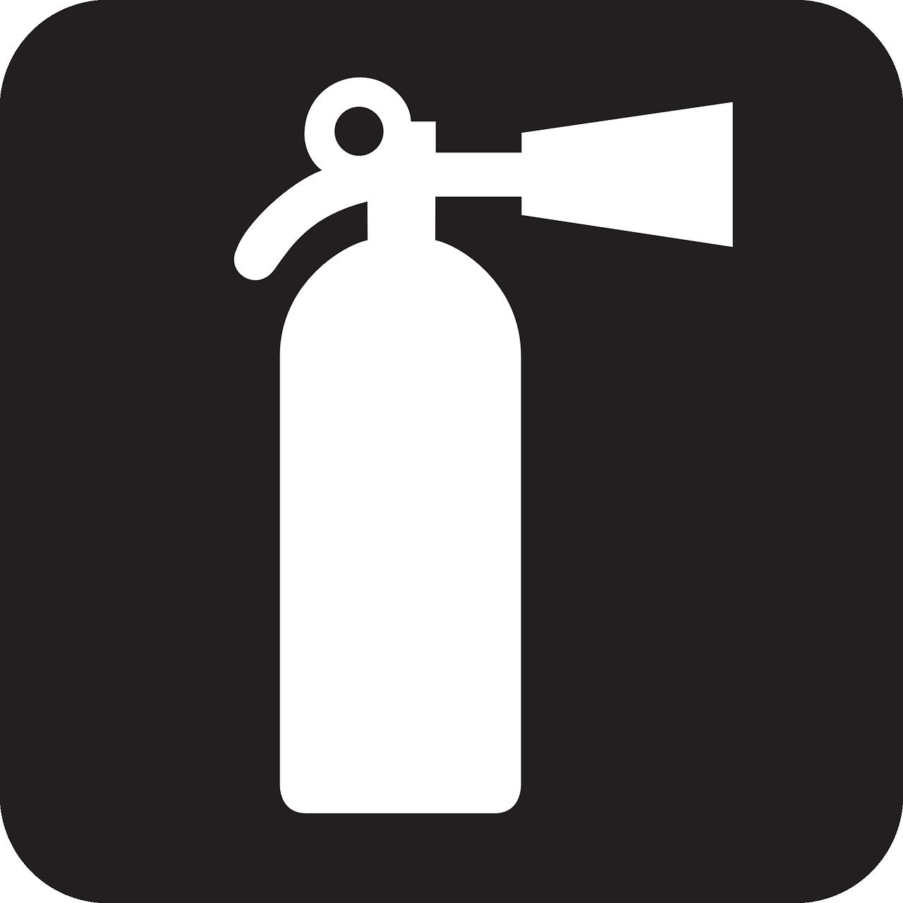 灭火器,消防水幕,手提式灭火器,火,黑,迹象,符号,图标