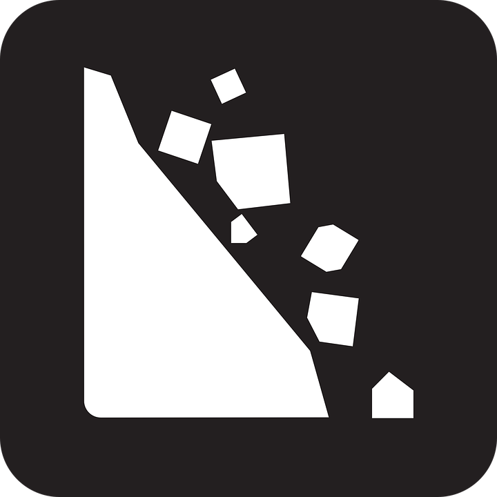 rockfall falling rocks rock fall free vector graphic on pixabay rh pixabay com free vector pile of rocks free vector rocks