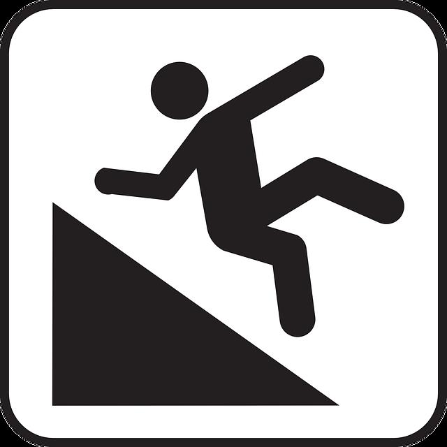 Free Vector Graphic Hillslope Falling Man Declivity