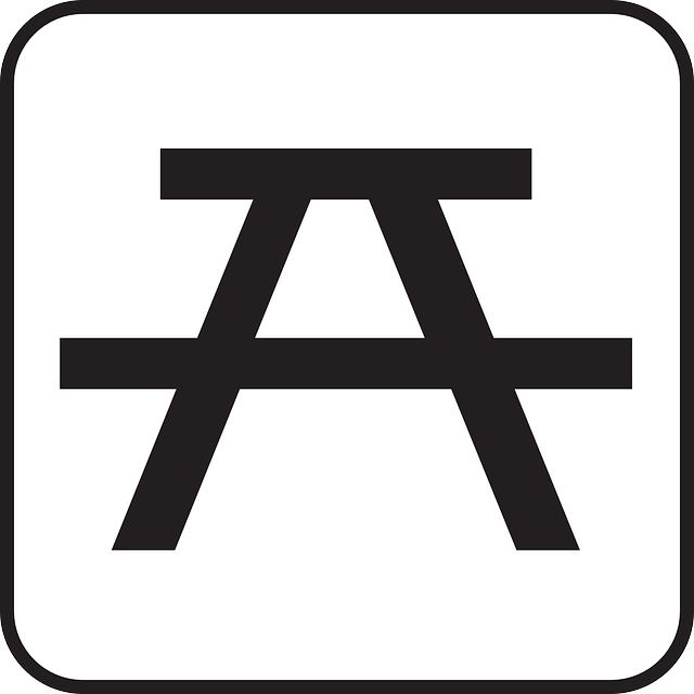 immagine vettoriale gratis area pic nic panchina