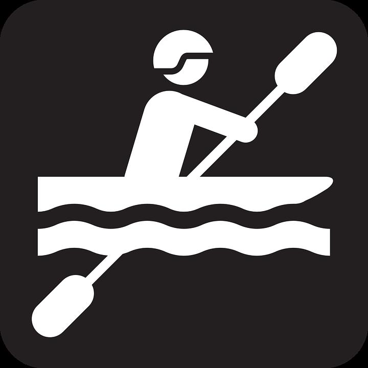 Canoeing Paddling Paddle Canoe Water Sports Black