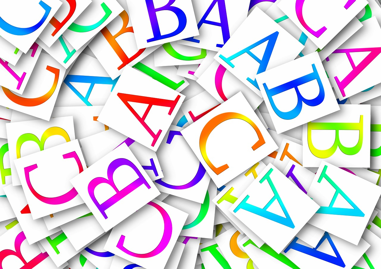 Картинки из букв английского алфавита
