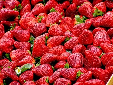 Strawberries, Red, Fruit, Ripe, Many