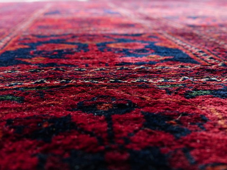 Karpet, Merah, Mengikat, Sutra, Wol, Karpet Tenun Pusat
