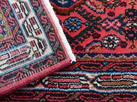 Carpet, Red, Tying, Silk, Wool