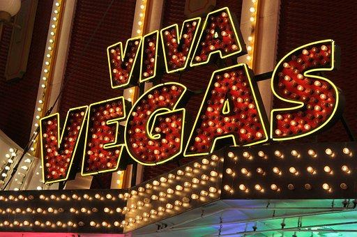 Neon, Sign, Viva, Las Vegas, Casino