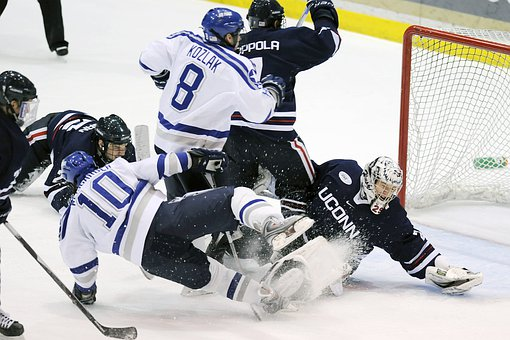 Hockey Sports Players Teams Net Goalie Act