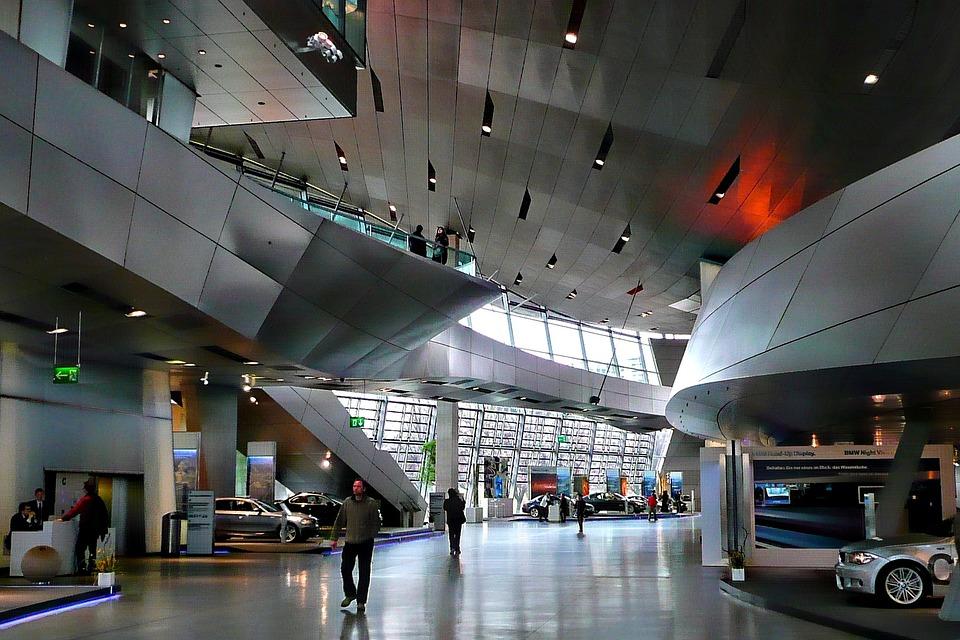 Free photo bmw museum interior hyper modern free for Interior design munich