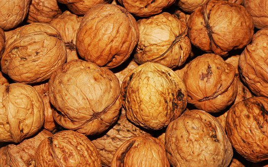 Walnut, Walnuts, Nuts, Brown, Nut