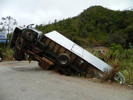 Accidente, Carro, Br, Caído