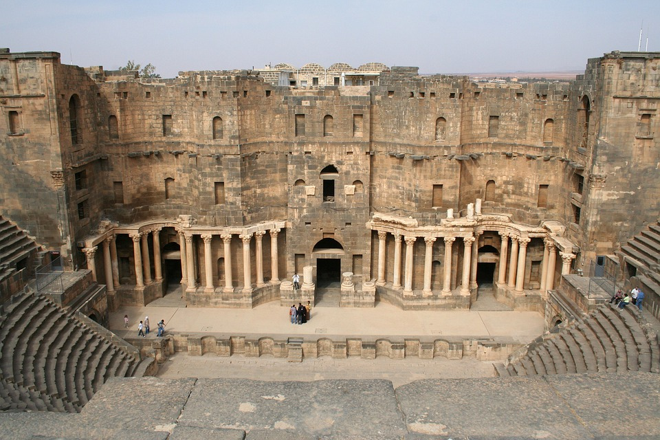 Syria, Bosra, Amphitheater, History, Historical