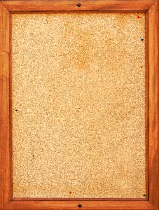 bulletin board pin board cork cork board