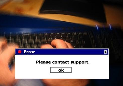 Error, Www, Keyboard, Tap, Type In, Hand