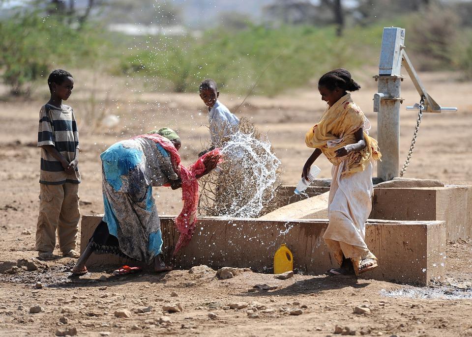 Jedane, Ethiopia, Women, Children, Boys, Water