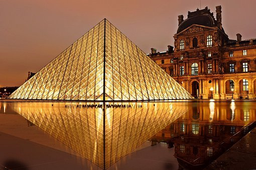 Louvre Pyramid Paris Architecture Tourism