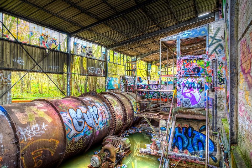 Urbex Urban Exploration Graffiti Colors Industrial