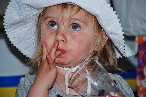 儿童, 女孩, 孩子们, Hatt, 可爱, 帽子, 孩子, 年轻, 苏打水