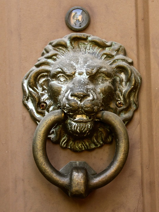 Ordinaire Door Knocker Lion Head Vintage Bronze Antique