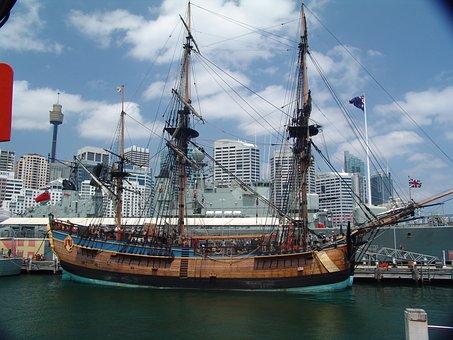Australien New South Wales + Sydney - Endeavour, Kapitän Cook, Schiff