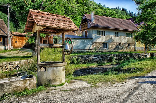 Sibiel, Romania, Well, House, Home