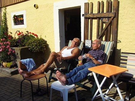 残り, 高齢者, 年金受給者, 男性, 夏のリゾート地, ファーム
