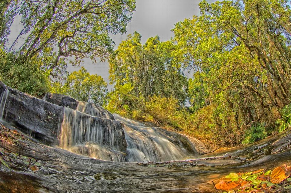 Malawi, Landscape, Stream, Water, Cascade, Cascading