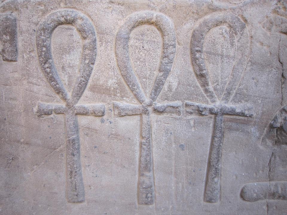 Ankh, Egypt, Hieroglyphics, Symbols, Live