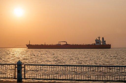 Maracaibo, Venezuela, Sunrise, Ship