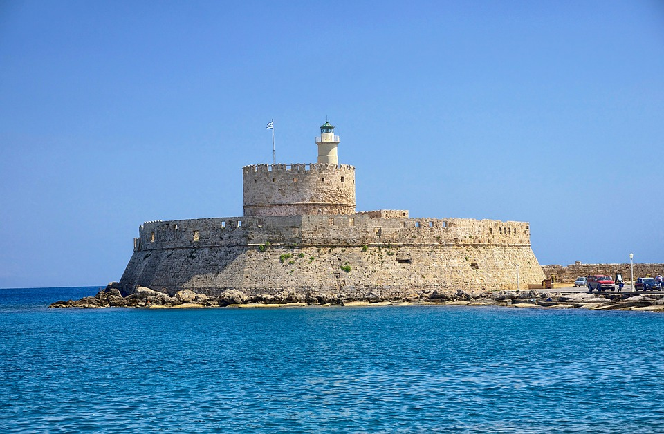 Rhodes, Greece, Fort Saint Nicolas, Fortress, Castle