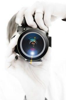 Photographer, Camera, Lens, Photo