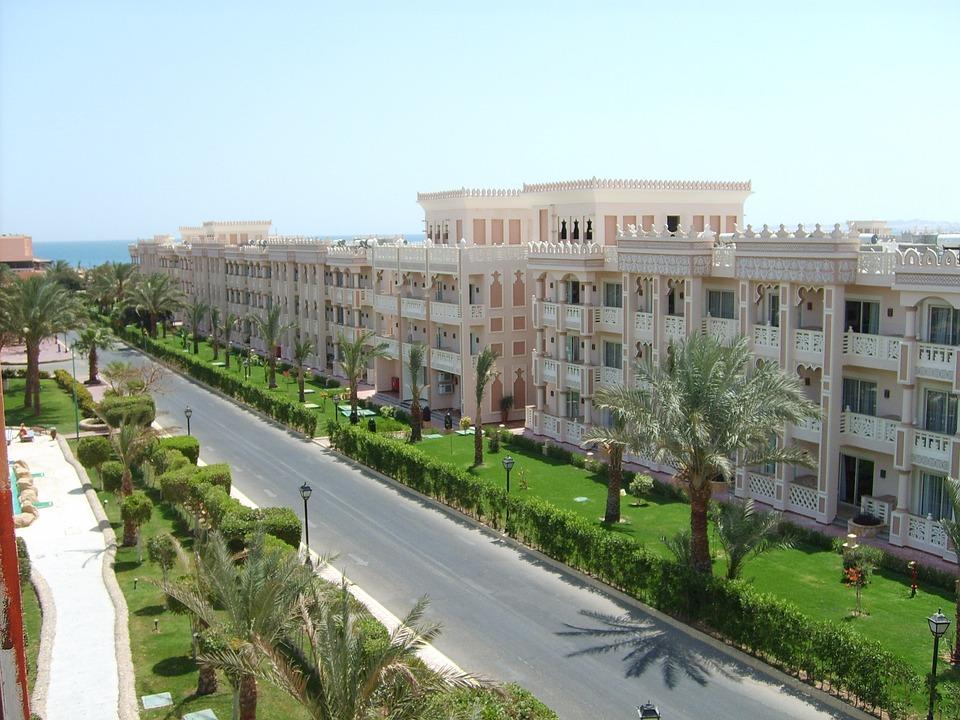 Mesir, Hotel, Street, Hurghada, Panas, Sun