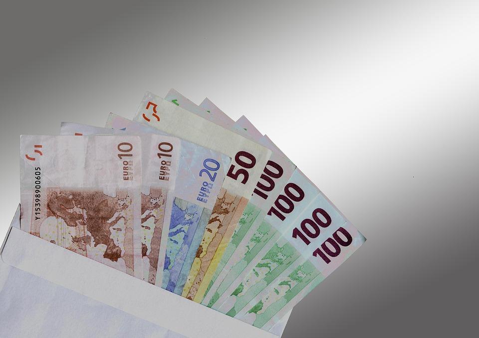 ユーロ, スタック, お金, 通貨, ユーロ記号, ドル紙幣, 札, 紙のお金, 金融, 値, お支払い