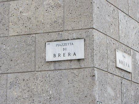 Segno, Via Brera, Milano, Italia, Luogo