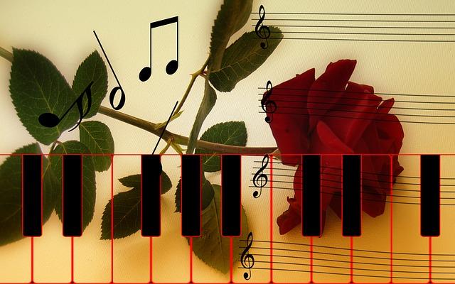 Rose Piano Keys 183 Free Image On Pixabay