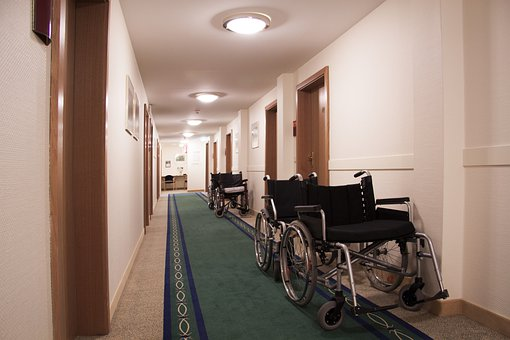 Rehabilitation, Gang, Floor, Wheelchair
