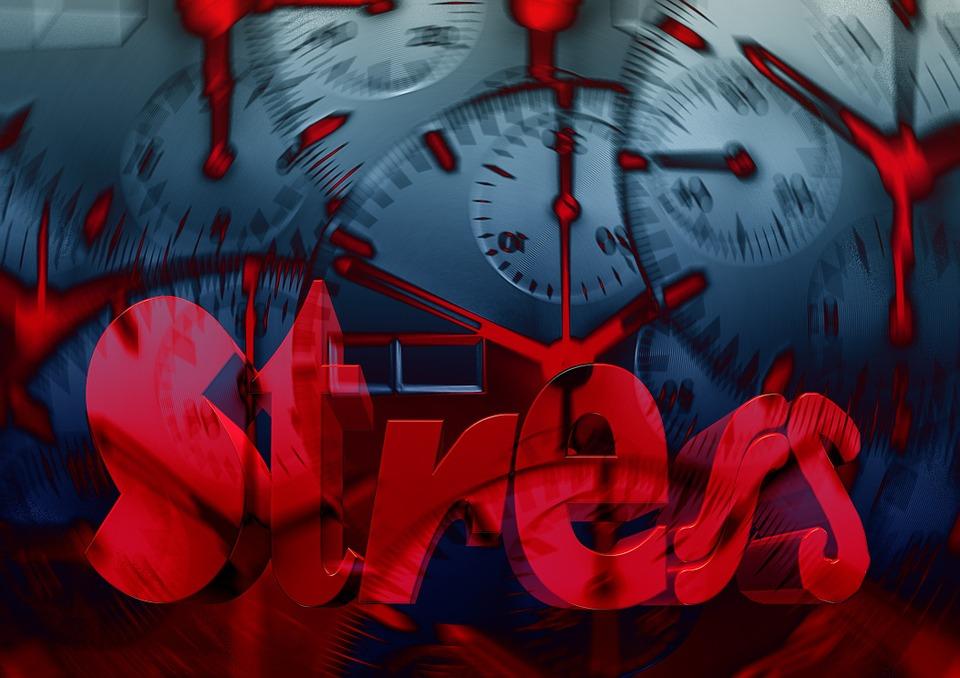 Stress, Parola, Crepe, Tensione, Burnout, Mal Di Testa