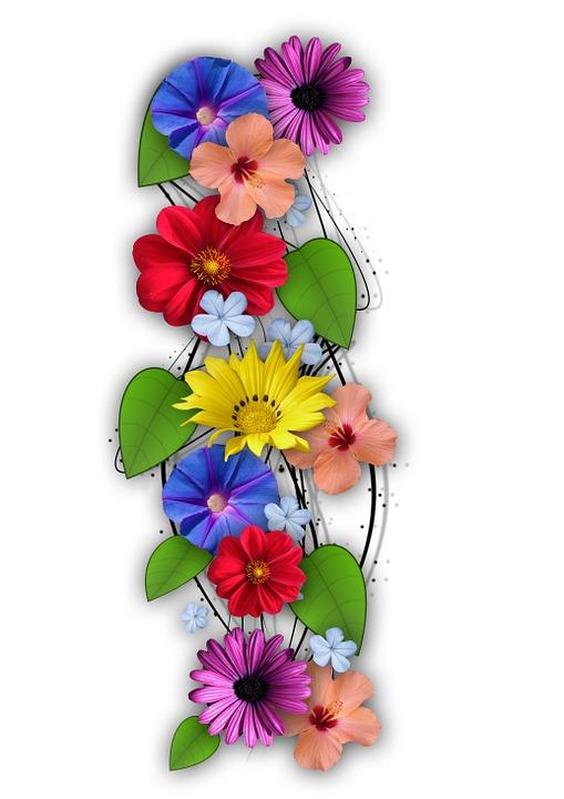 Bunga Bunga Kolase Kombinasi Musim Panasa