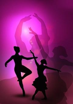 Ballet Dancers Woman Silhouettes Danc