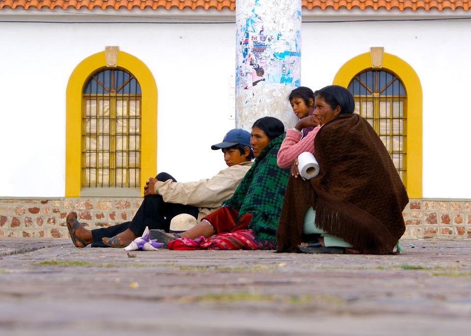 Sucre, Español, Bolivia, Gente, Esperando, Personas