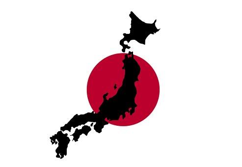 日本, 日本語, 地図, フラグ, 赤, 概要, 罫線