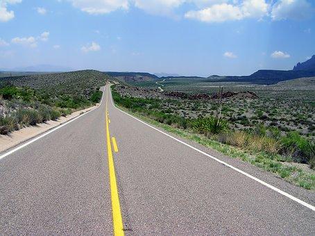 ビッグ ベンド, テキサス州, 風景, 風光明媚な, 道路, 高速道路, 山