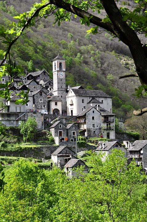 Free photo: Bergdorf, Ticino, Alpine - Free Image on ... Black Stone Flower
