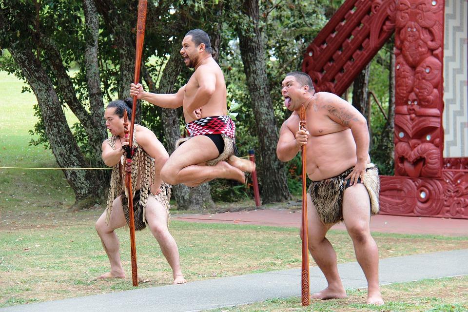 Maorí, Los Hombres, Salto, Lanza, Caza, Guerrero