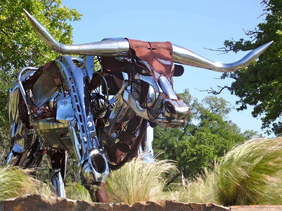 free photo texas longhorn sculpture free image on