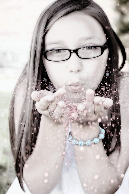 Free Photo Girl Blowing Glitter Face Free Image On