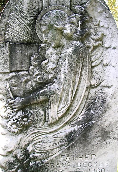Free Photo Cemetery Engraved Headstone Angel Free